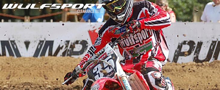 Wulfsport stratos red race shirt size small motocross motorbike MX leisure