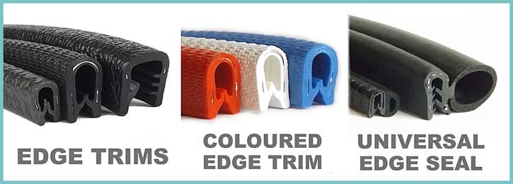 Rubber EDGE TRIM 30mmx 15mm Door Bonnet Vertical Fin Boot Seal